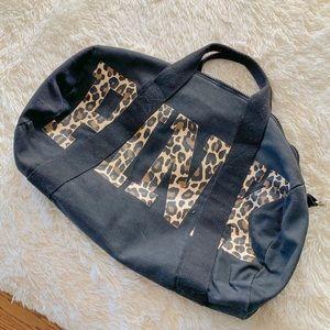 VS PINK Cheetah Logo Duffle Bag